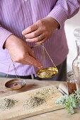 Weighing herbs