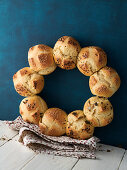 Wreath of rolls