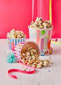 Colorful confetti popcorn