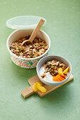 Base mix for hearty nut muesli