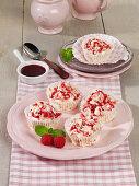 Raspberry cream cheese ice cream muffins