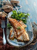 Pan-fried filled of fish