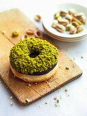 Pistachio chocolate donut