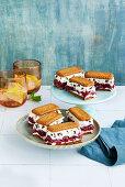 Stracciatella cherry cake