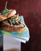 Marine oyster sandwich