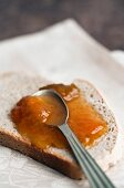 Slice of bread with jam