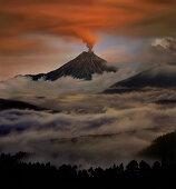 Tungurahua volcano eruption, Ecuador, South America