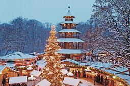 Weihnachtsmarkt Am Chinesischen Turm.Weihnachtsmarkt Am Chinesischen Turm Bild Kaufen 70306170