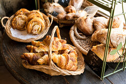 Bakery goods in a French bakery