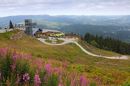Arberschutzhaus und Eisensteiner Hütte, Großer Arber, Bayrischer Wald, Bayern, Deutschland
