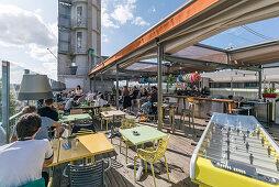 Mama Shelter Design Hotel, Dachterasse, Bar, Bordeaux, Frankreich
