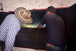 maschinelle Trocknung von Kaffeebohnen, Hacienda Venecia bei Manizales, UNESCO Welterbe Kaffee Dreieck (Zona Cafatera), Departmento Caldas, Kolumbien, Südamerika