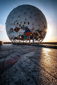 View of the radar dome of the former listening station on Teufelsberg, Grunewald; Berlin; Germany;