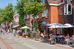 Pedestrian zone, Wyk, Föhr, Scheswig-Holstein, Germany