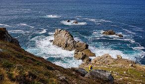 Steep coast, Cornouaille, Brittany, France, Europe