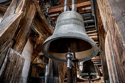 Munich cathedral bells; Ten bells tolled; South tower; 14th, 15th, 17th, 21st centuries;