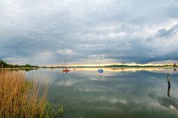 Evening mood in Sieseby an der Schlei, Schwansen, Thumby, Schleswig-Holstein, Germany
