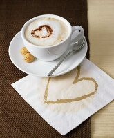 Cappuccino with cocoa heart