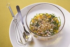 Shallot and herb vinaigrette