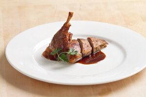 Roast duck with apple dressing