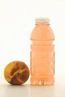Peach with Bottle of Flavored Vitamin Water