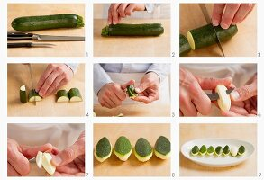 Turning courgettes