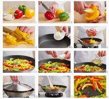Gedünstete Paprika zubereiten
