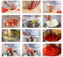 Tomatensauce zubereiten