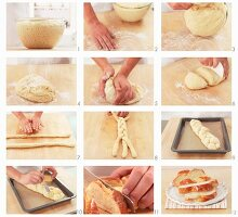 Making a bread plait
