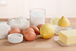 Ingredients for lemon cake