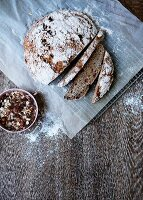 Homemade bread with muesli