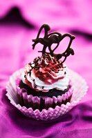 Chocolate cupcake for Valentine's Day