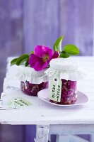 Homemade wild rose pesto