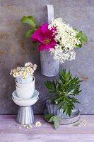 An arrangement of summer flowers