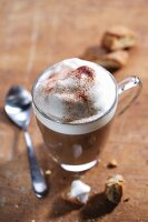A cappuccino with milk foam