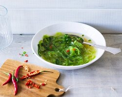 Spicy chilli and leek soup