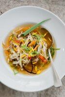 A quick winter vegetable soup