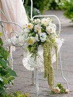 Brautstrauß aus Rosa (Rosen), Solanum jasminoides