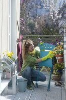 Balkon durch die Jahreszeiten