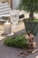 Hütten-Weihnacht-Tischdeko