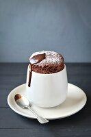 Homemade individual chocolate souffle