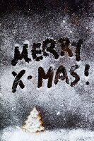 'Merry Christmas' written in icing sugar