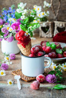 Strawberry and basil sorbet