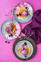 Waffles with Berry IceCream