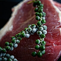Beef with green peppercorns (Australia)