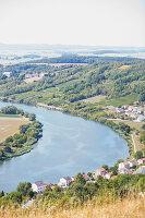 Dreiländereck bei Perl, Deutschland, Blick auf Frankreich und Luxemburg