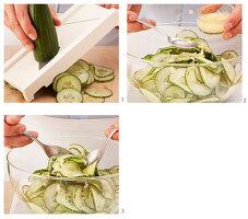 Gurkensalat mit Ingwer zubereiten