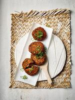 Ganmodoki - Tofu-Gemüseplätzchen mit Algen und Mu-Err-Pilzen