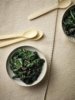 Horenso Ohitashi - Japanischer Spinat in Würzdashi