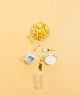 Zutaten für Mango-Lassi